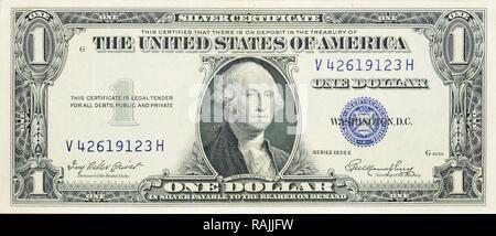 Historische Banknote, einem Dollar, USA, 1935 - Stockfoto