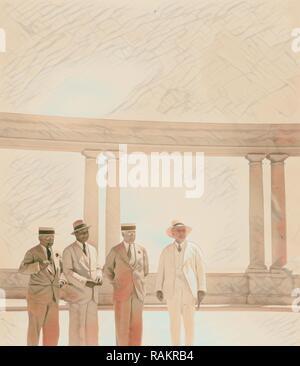 Der US-Senator & Frauen, 12.08.1936, Jerusalem, Israel. Neuerfundene durch Gibon. Klassische Kunst mit einem modernen Touch neuerfundene - Stockfoto