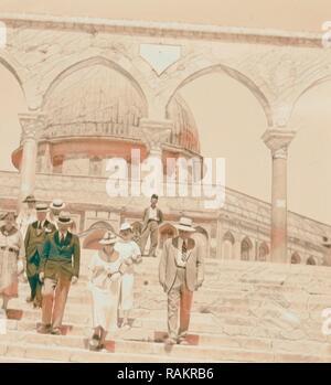 Der US-Senator & Frauen, 12.08.1936, Naher Osten, Israel und/oder Palästina. Neuerfundene durch Gibon. Klassische Kunst mit einem modernen Neuerfundene - Stockfoto