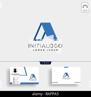 Schreiben ein kreatives logo Vorlage mit Business Card Template