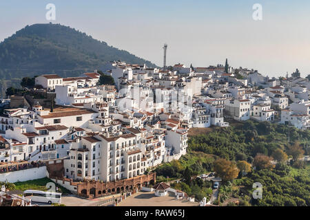 Frigiliana an der Costa del Sol, Provinz Malaga, Andalusien, Spanien - Stockfoto