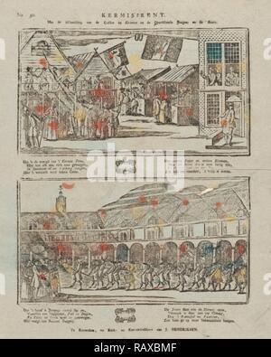 Messe Drucken, mit dem Bild der Spiele und der Stände und Jungs nach der Show, Jan Hendriksen, drucken Teekocher: Anonyme neuerfundene - Stockfoto