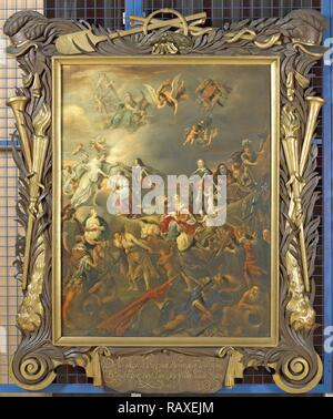 Allegorie des Friedens unter Stadholder Willem II, Adriaen van Nieulandt (I), 1650. Neuerfundene durch Gibon. Klassische Kunst neuerfundene - Stockfoto