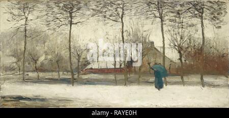 Winterlandschaft, Willem Maris, C. 1875. Neuerfundene durch Gibon. Klassische Kunst mit einem modernen Touch neuerfundene - Stockfoto