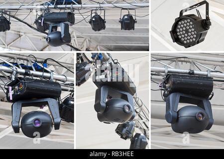 Collage aus verschiedenen Stage spot light - Stockfoto