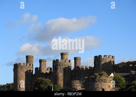 Conwy Castle, Conwy, Nord Wales Wales, Vereinigtes Königreich - Stockfoto