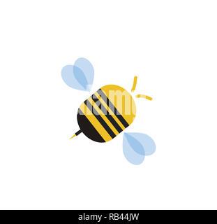 comic biene insekt tier linie fliegen vektor abbildung bild 141345990 alamy. Black Bedroom Furniture Sets. Home Design Ideas