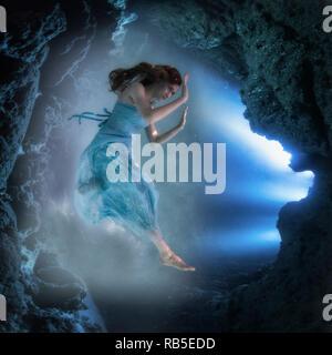 Meerjungfrau Beim Blasen