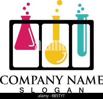 Labor Logos und Symbole Vektor lab - Stockfoto