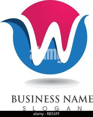 W logo Business Logo und Symbole Vorlage - Stockfoto