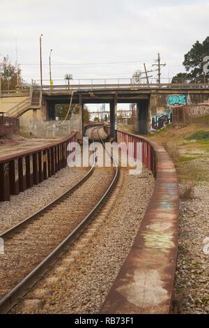 Eisenbahnschienen, New Orleans, Louisiana. - Stockfoto