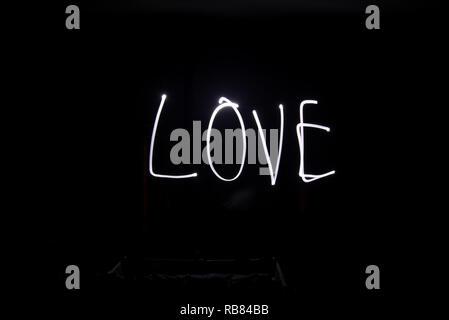 Licht Malerei, Liebe, lange Belichtung - Stockfoto