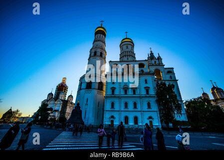 Moskau, Moskau, China. 8 Jan, 2019. Die Grand Kremlin Palace war von 1837 bis 1849 in Moskau, Russland auf der Website der Immobilien der grossen Fürsten, die im 14. Jahrhundert auf Borovitsky Hügel gegründet worden war. Credit: SIPA Asien/ZUMA Draht/Alamy leben Nachrichten - Stockfoto