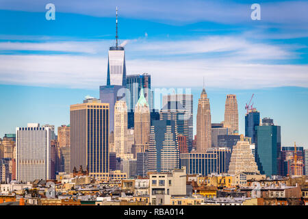 New York City, USA, Downtown Manhattan Skyline. - Stockfoto