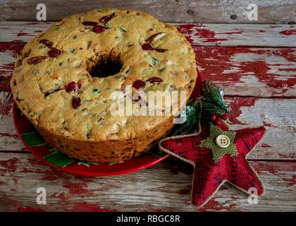 Tradition hausgemachte Weihnachten Obstkuchen. - Stockfoto