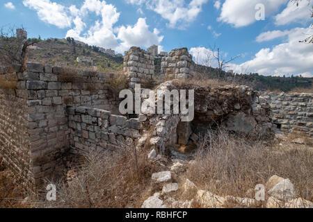 Israel, Jerusalem, lifta, einen verlassenen Arabischen Dorf am Stadtrand von Jerusalem. Die Bevölkerung wurde während der Belagerung von zu entlasten angetrieben - Stockfoto