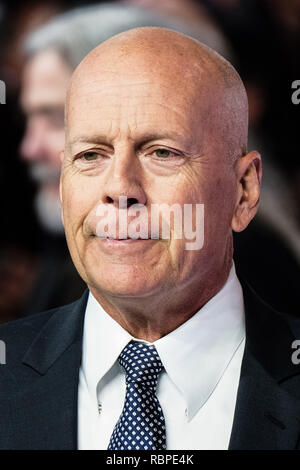 Bruce Willis an der BRITISCHEN Premiere von Glas am Mittwoch, den 9. Januar 2019 gehalten an Curzon, Mayfair, London. Im Bild: Bruce Willis. - Stockfoto
