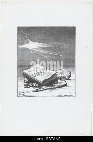 """Eine Seite von Geschichte, von """"Nachricht des Tages"""", in Le Charivari, 16. November 1870 veröffentlicht."""