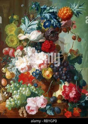 Jan Van Os, Obst und Blumen in einer Vase Terrakotta, 1777-8.jpg-RBYGP 0