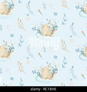 ostern grußkarte. süße kaninchen, hand zeichnen abbildung