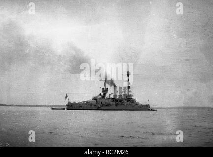 Deutsches Reich Reichsmarine Linienschiff Deutschland-Klasse - Stockfoto