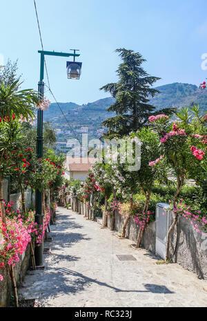 Straße in Ravello, Amalfi Küste, Italien, Europa - Stockfoto