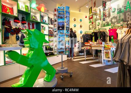 Die erste und ursprüngliche Ampelmännchen, Ampelmann Galerie Shop in den Hackeschen Höfen (Hackescher Markt) shopping Innenhöfe. Berlin, Deutschland. - Stockfoto