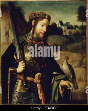 Saint Bavo. Museum: Staatliche Eremitage, St. Petersburg. Autor: Geertgen Tot Sint Jans. - Stockfoto