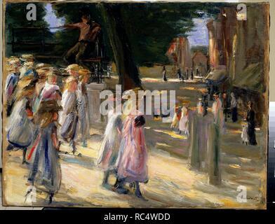 Der Weg zur Schule in Edam. Museum: Staat A Puschkin-Museum für bildende Künste, Moskau. Autor: Liebermann, Max. - Stockfoto