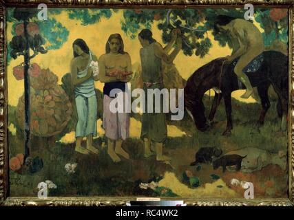 Rupe Rupe (Früchte sammeln). Museum: Staat A Puschkin-Museum für bildende Künste, Moskau. Autor: Gauguin, Paul Eugéne Henri. - Stockfoto