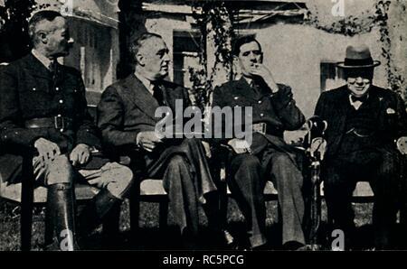 """""""Allied Konferenz in Casablanca, Marokko"""", Januar 1943, (1945). Schöpfer: Unbekannt. - Stockfoto"""