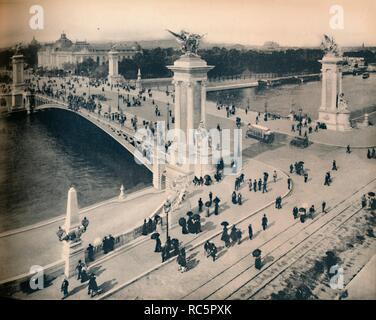 """Paris. - Le Pont Alexandre III. - LL, c 1910. Schöpfer: Unbekannt. - Stockfoto"