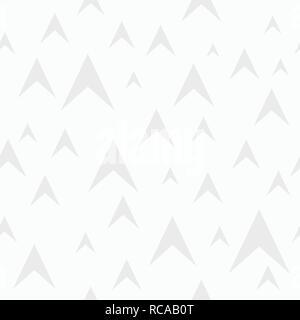 Zusammenfassung nahtlose Muster der Pfeile. Flache Bauform. Minimalistischer Grafik drucken. Weiße und graue geometrische Struktur. Vektor einfache Hintergrund. - Stockfoto