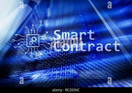 Smart, blockchain Technologie in modernen Unternehmen. - Stockfoto