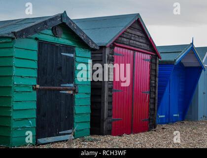 Entlang der Küste von Felixstowe in Suffolk, England - Stockfoto