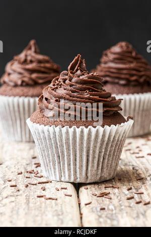 Hausgemachte Schokolade Cupcakes - Stockfoto