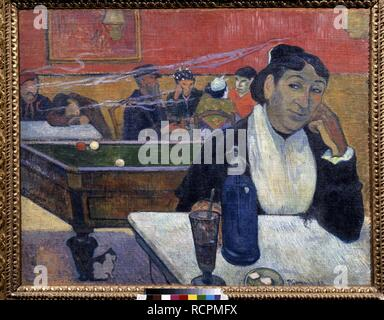 Nacht Café in Arles. Museum: Staat A Puschkin-Museum für bildende Künste, Moskau. Autor: Gauguin, Paul Eugéne Henri. - Stockfoto