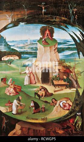 Die sieben Todsünden. Museum: Genf Bildende Kunst Stiftung. Thema: BOSCH, Hieronymus. - Stockfoto
