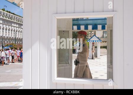 Athen, Griechenland - Juni 6, 2018: Schutz der griechischen Parlament in Athen - Stockfoto
