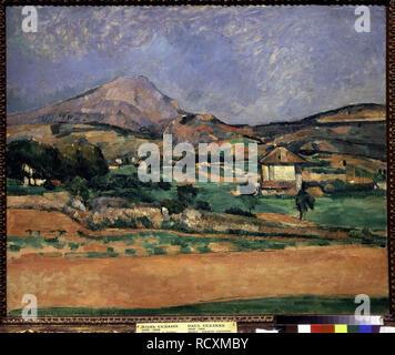 Die Ebene von den Berg Sainte-Victoire. Museum: Staat A Puschkin-Museum für bildende Künste, Moskau. Autor: Cezanne, Paul. - Stockfoto