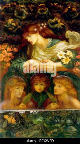 Die selige Damozel. Museum: Fogg Art Museum in Cambridge. Autor: Rossetti, Dante Gabriel. - Stockfoto