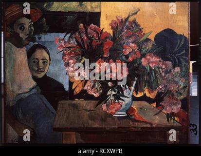 Te Tiare Farani (die Blumen von Frankreich). Museum: Staat A Puschkin-Museum für bildende Künste, Moskau. Autor: Gauguin, Paul Eugéne Henri. - Stockfoto