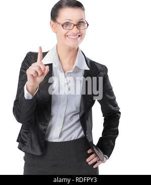 Zuversichtlich Business woman Bei kopieren. - Stockfoto