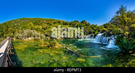 Krka, Nationalpark in Kroatien - Stockfoto