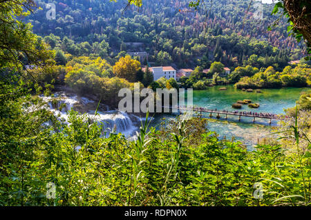 Krka, Nationalpark in Kroatien - Stockfoto
