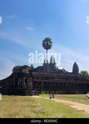 Angkor Wat in Kambodscha ist das größte religiöse Monument der Welt und ein Welterbe, Seam Reap, Kambodscha 2012, 9. Dezember - Stockfoto