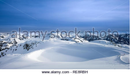 Alpen Panorama Querformat - Stockfoto