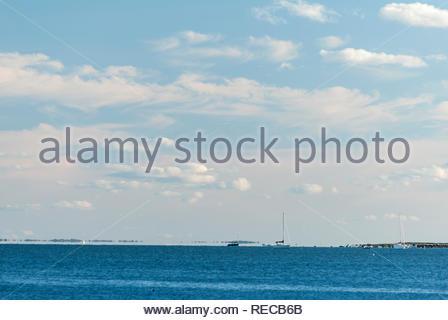 Angelegte Boote aus Ned's Point in Mattapoisett, Massachusetts - Stockfoto