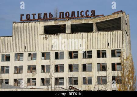 Verlorene Orte in der Stadt Prypjat, neben dem Tschernobyl Kraftwerk - Stockfoto