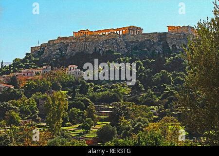 Parthenon auf der Akropolis in Athen, Griechenland